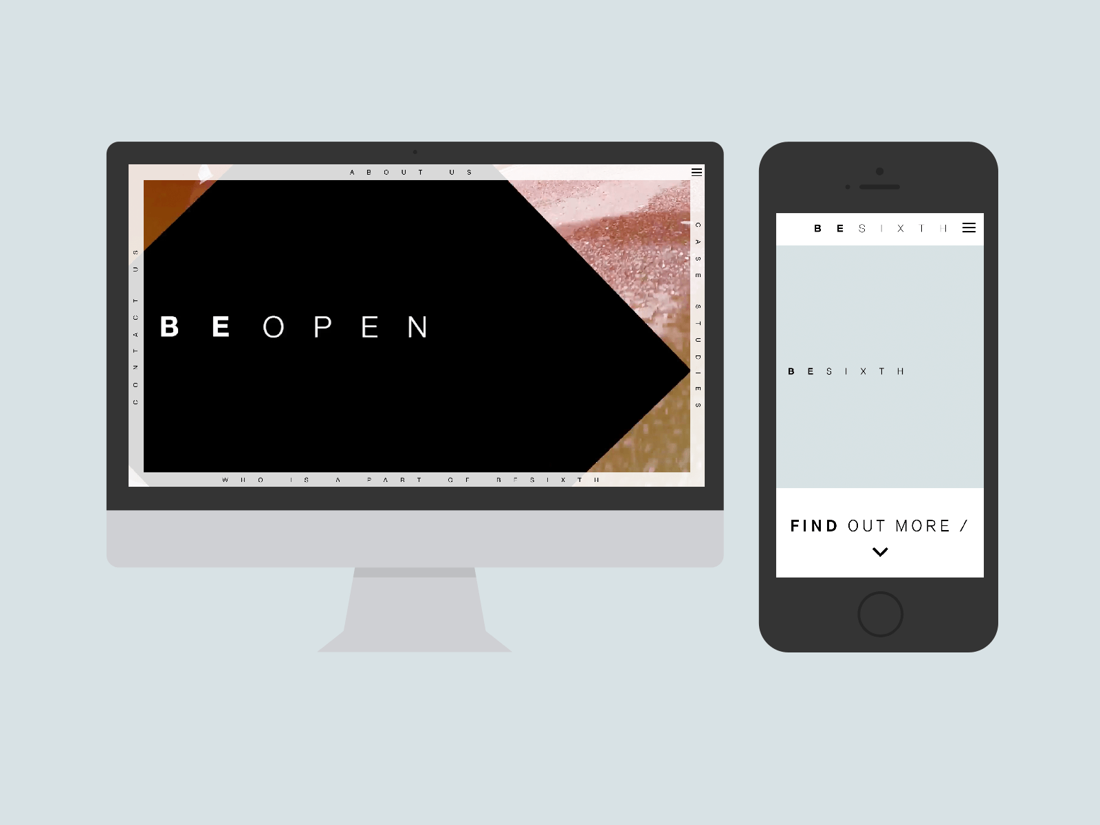 Besixth Website in Mockups