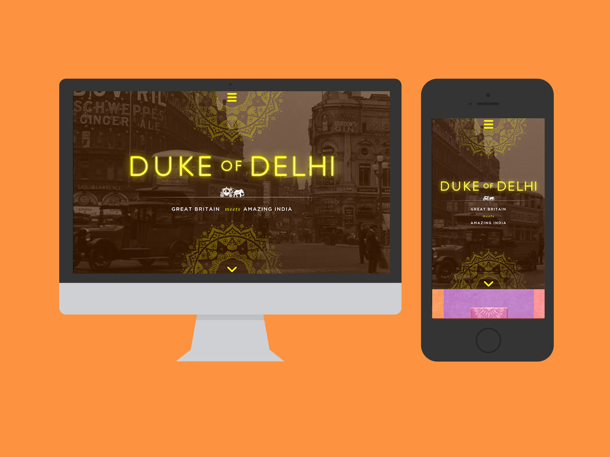 Duke of Delhi Design Mockups