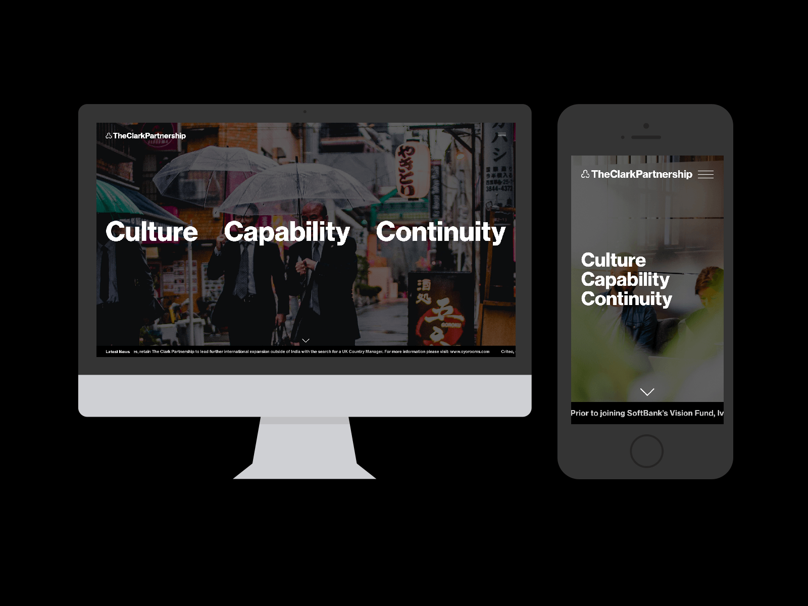 The Clark Partnership Website in Mockups