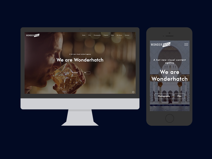 Wonderhatch Website in Mockups